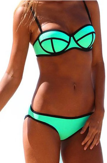TDOLAH damen bikini Neoprene Bright